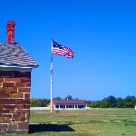 The flag flying at Fort Larned taken on Labor Day weekend, 2012.