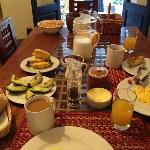 Delicious breakfast at Second Home Cusco