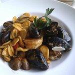 Orecchiette pasta with seafood