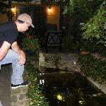 Hubby loving the Koi fish.**SO CUTE!!**
