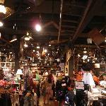 inside the Cracker Barrel - gift shop