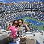 At the 2012 US Open Tennis, with my sister, Noeme (on 9/1/12)