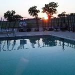 Sunset at the pool!