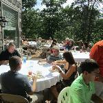 Our families enjoying Rickard Ridge's amazing food
