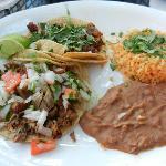 Al Pastor and Steak tacos