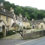 The beautiful village of Castle Combe a short drive away