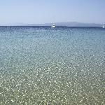 Mare cristallino di koukounaries beach.