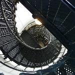 Iron staircase inside the lighthouse