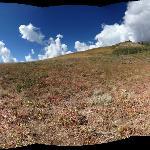 Hiking trail near resort. Diverse landscape
