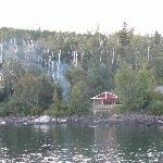 Mickey's Fish House & Campfire taken from Cove Point