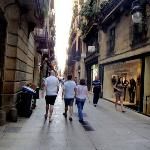 Charming side street on the way back to the hotel from La Ramblas