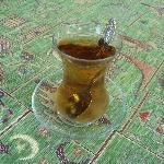 Degustation de thé dans le patio