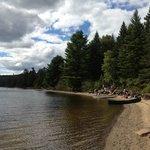 Random beach we canoed to on Rock Lake