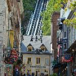 funicular to the upper town in background