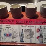 sake sampler- good choice for newcomers