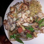 shrimp flambee- nicely butterflied