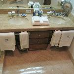 Double sinks with plenty of counter space