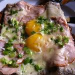 """Rockies"" Ham and Eggs Crepe"