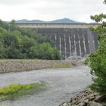 Dam from the camp area below