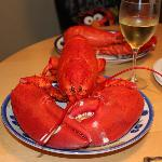 Dinner in the room. Everything you need is there - just bring add the lobster and wine!