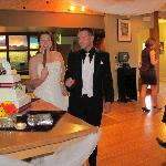 Main dining area for cake cutting