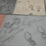 Footprints at Grauman's Chinese Theater in Hollywood