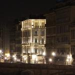 Hotel`s night view from Ponte Vecchio