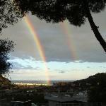 Doppio arcobaleno su Ventimiglia