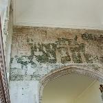 ギルド教会内部中央の15世紀末に描かれたフレスコ画