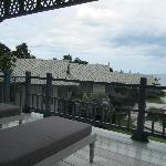 Balcony overseeing the resort