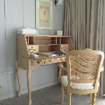 Writing desk inside Seaside Suite