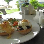 Egg benedict in breakfast, included in buffet breakfast