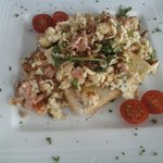 Scrambled Eggs and Salmon from lunchtime menu tasted as good as it looks