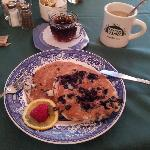Delicious breakfast. Maine's Blueberry Pancake