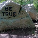 "one of @30 ""Values"" boulders"