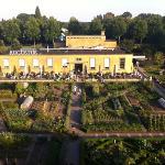 Restaurant Villa Augustus vanuit het hotel gezien