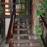 stairs leading to garden room. No elevators so be prepared.