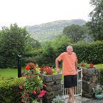 View of the garden and Moel Y Gest