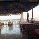 Roof top terrace restaurant