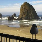 View from our room to Haystack Rock