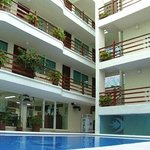 hotel and pool areas