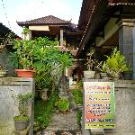 Entrance to the homestay.