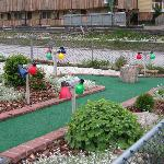 The mini golf is fun!