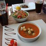 gaspacho --thon micuit sauce soja au wasabi