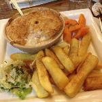 The Chicken, Ham & Leek Pie, already started tucking in before I snapped the picture sorry!
