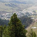 View from above the town of Creede