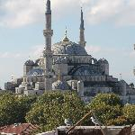 Unobstructed view of the Blue Mosque from the Terrace