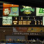 Scoreboard on the night of August 28, 2012
