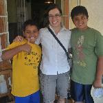 The boys with Jackie- one of the excellent guides at camp