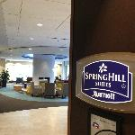 Springhill Suites sign in Lobby